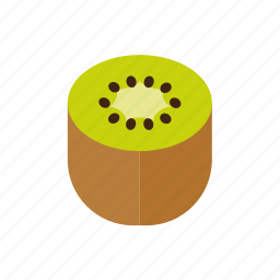 food, fruit, half, kiwi, seeds, tropical icon