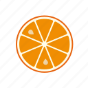 citrus, food, fruit, orange, slice, tropical icon