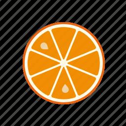 citrus, food, fruit, orange, slice, tropical icon