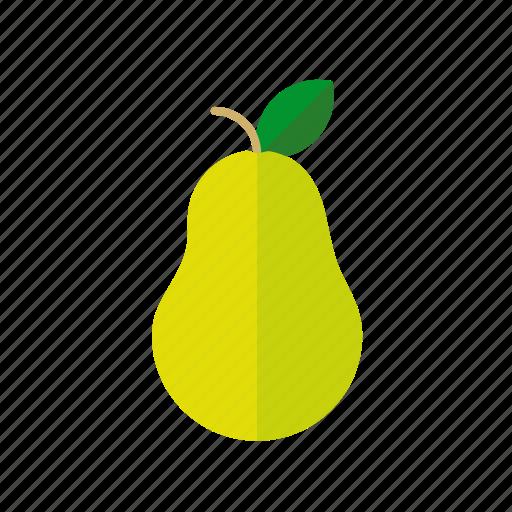 food, fruit, healthy, leaf, pear icon