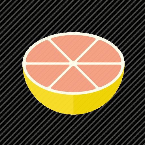 citrus, food, fruit, grapefruit, half, pink, tropical icon
