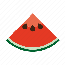 food, fruit, quarter, seeds, slice, tropical, watermelon icon