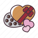 valentine, love, chocolate, gift