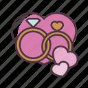 valentine, love, wedding, ring, romantic, romance