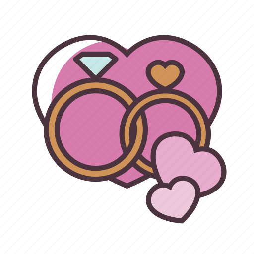 Valentine, love, wedding, ring, romantic, romance icon - Download on Iconfinder
