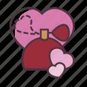 valentine, love, perfume, romantic
