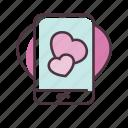 valentine, love, app, mobile, smartphone