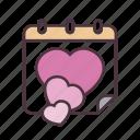 valentine, love, date, calendar, days