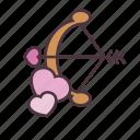 valentine, love, cupid, arrow, bow