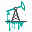 extraction, fossil, fuel, oil, petroleum, production, pump, splash icon