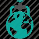 business, compter, construction, crane, earth, fuel, gas, globe, oil, sensor, valve icon
