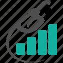 business, energy, fuel, graph, growth, handle, money, nozzle, oil, pump, revenue, station icon