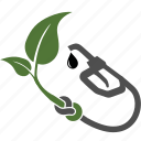 biology, ecology, energy, fuel, handle, nature, nozzle, oil, plant, pump, save, station icon