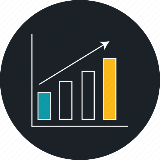 business growth, chart, finance, growth bar chart icon