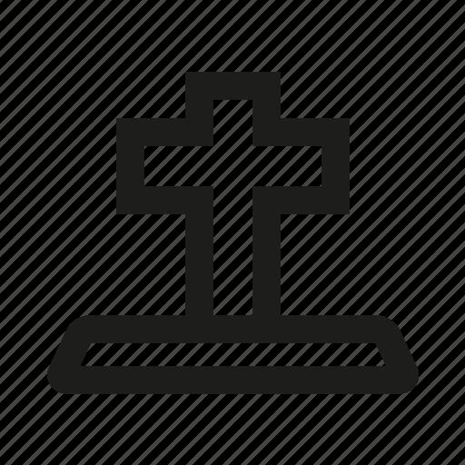 Bibble, hill, memorial, funeral, cross icon