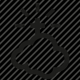 bibble, cloud, cross, funeral icon