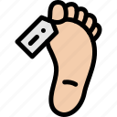 body, dead, foot, funeral icon