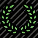 dead, funeral, leafs, wreath icon