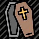 coffin, dead, funeral, grave icon