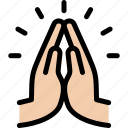 funeral, hand, hope, pray icon