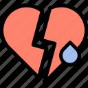 broken, funeral, heart, sad icon
