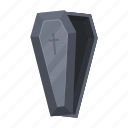 burial, coffin, sarcophagus, wooden icon