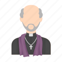 church minister, clergyman, man, parson, priest icon