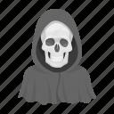death, hood, image, skull