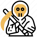 death, grim, reaper, sickle, skull
