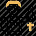 catholic, church, pastor, priest, religion icon