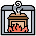 burning, coffin, cremation, funeral, ritual icon