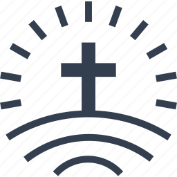 bibble, cross, funeral, hill, memorial, monument, mortuary, pray icon