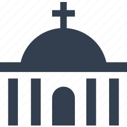 building, church, cross, funeral, place, praying, sake icon