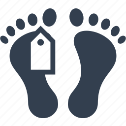 dead, death, feet, foot, funeral, label, man, morgue, mortuary, person, rip, tag icon