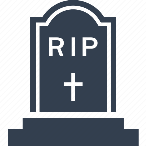 cemetery, cross, funeral, grave, halloween, rip, scarry icon