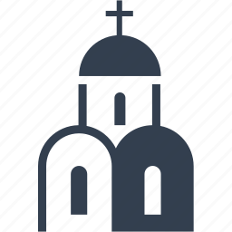 bulding, church, cross, funeral, place, pray, praying, priest icon