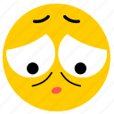 ashamed, emojiashamed04, sad, sorry icon
