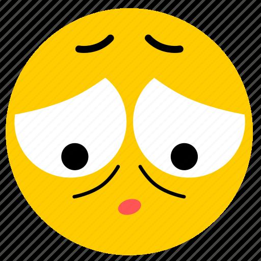 ashamed, emojiashamed04, sad, sorry icon
