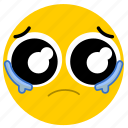 cry, crying, emojicrying02, sad, tear, tears icon
