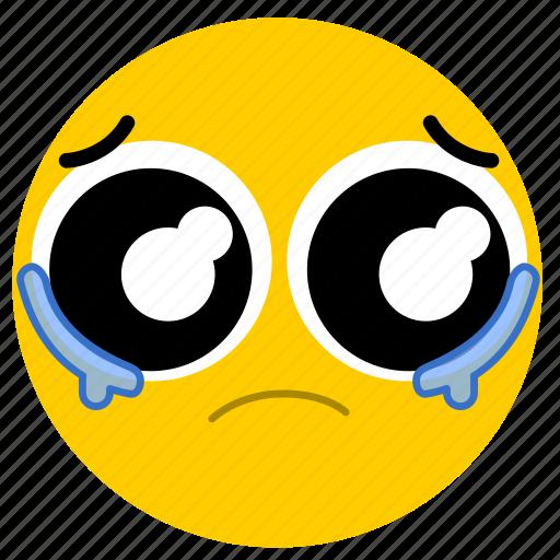 cry, crying, emojicrying02, sad, tear, tears icon
