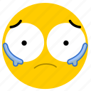 cry, crying, emojicrying04, sad, sorry, tear, tears icon