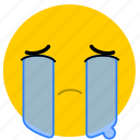 cry, crying, emojicrying06, sad, tears icon