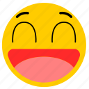 big smile, emojihappy04, happy, smile icon