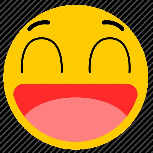 big smile, emojihappy04, happy, smile icon