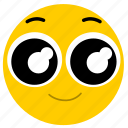 big eyes, emojihappyeyes02, happy, happy eyes, smile icon