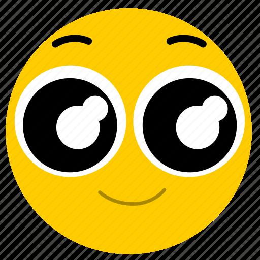 big eyes, emojihappyeyes02, happy, happy eyes, smile icon