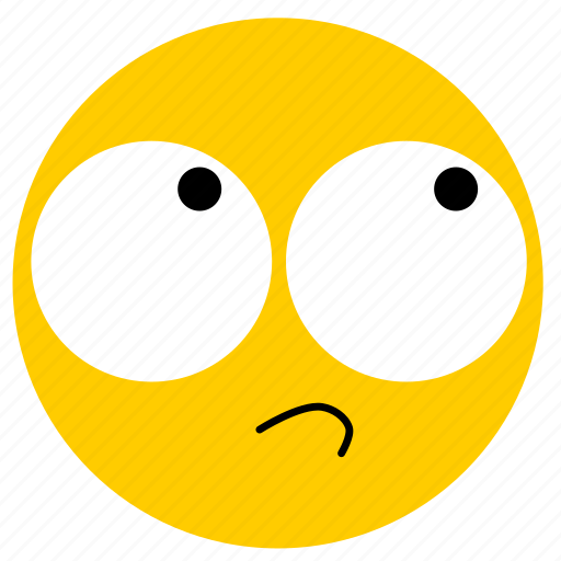 doubt, emojirollingeyes02, rolling eyes, skeptical icon