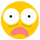amazed, emojiscared02, shock, shocked, surprise, surprised icon