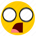 emojishocked02, shock, shocked, surprise, surprised icon