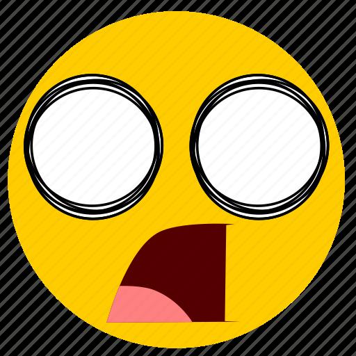 emojishocked02, shock, shocked, surprise, surprised icon